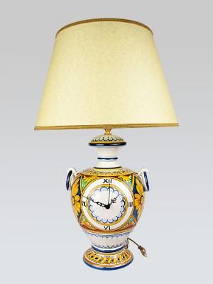 Lume con anelli e orologio centrale (H 72)