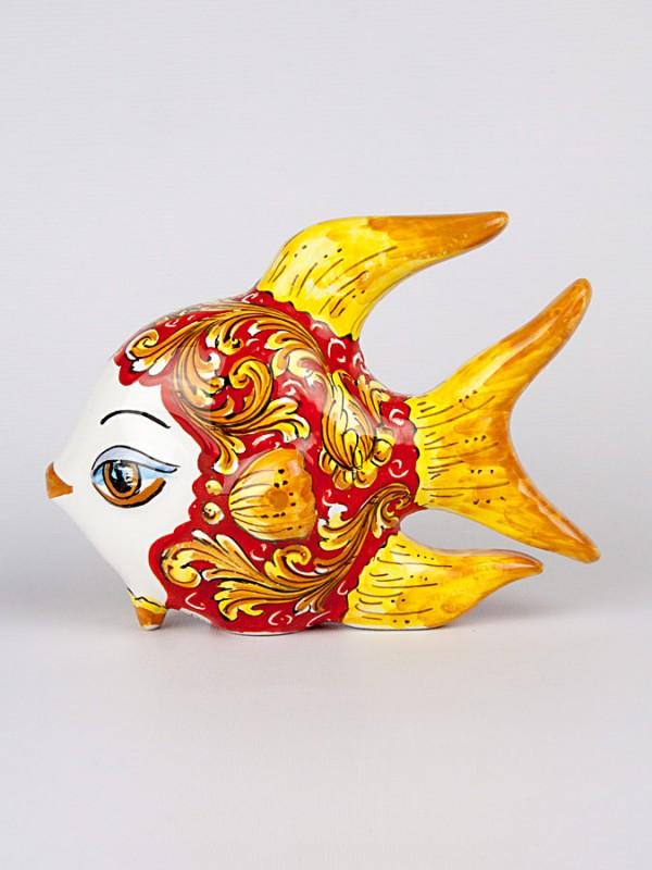 Pesce tropicale da appoggio grande  (H 18) Oggettistica - CeramicArt Caltagirone