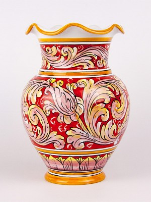 Vaso ovale smerlato (H 25)