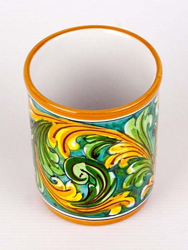 Bicchiere contenitore (H 11) Oggettistica - CeramicArt Caltagirone