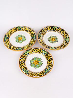 Servizio piatti piano, fondo e frutta con decoro Floreale