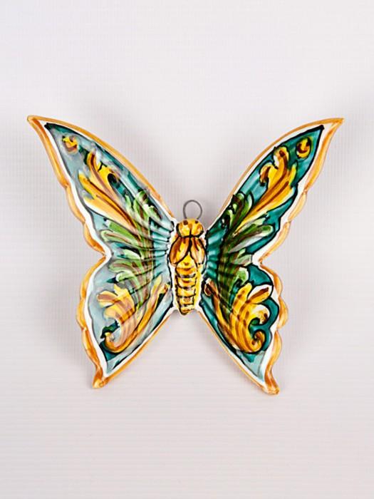 Farfalla con ornato verde (H 15)
