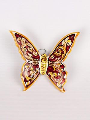 Farfalla con ornato rosso (H 15)