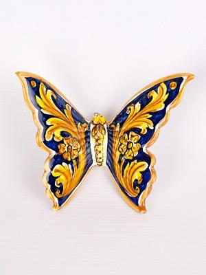 Farfalla con ornato blu (H 15)