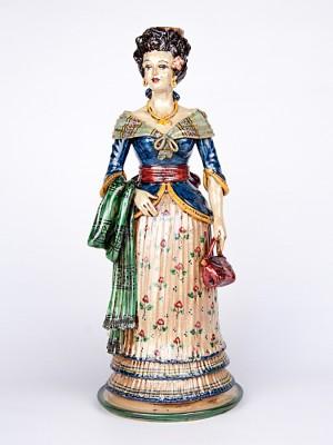 Lumiera donna con abito elegante e borsetta (H 40)