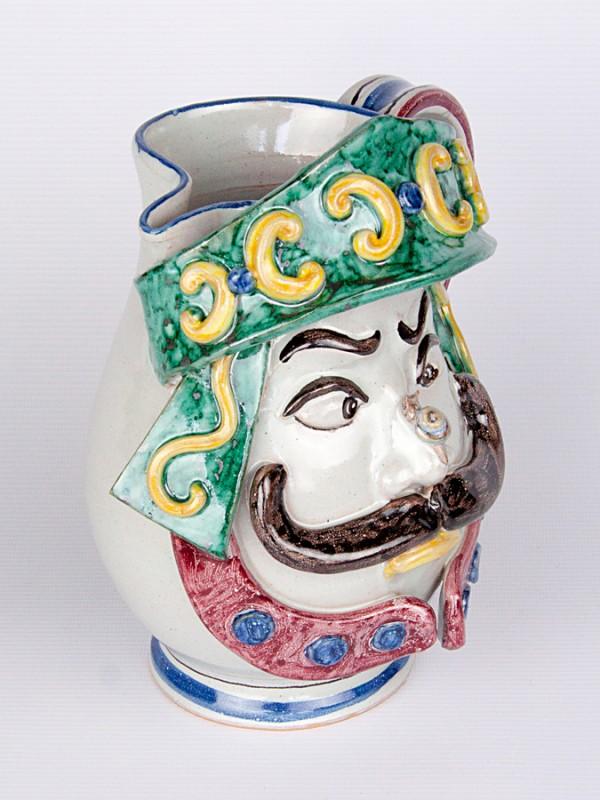 Brocca antropomorfa uomo (H 22) Oggettistica - CeramicArt Caltagirone