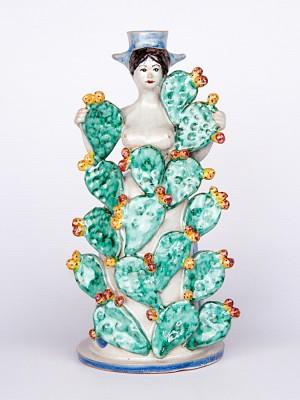 Lumiera donna adornata con piante di fico d'india (H 40)