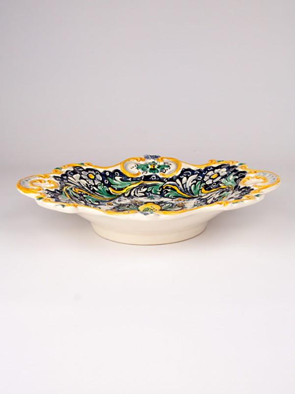 Centrotavola barocco (Ø 29) Centrotavola - CeramicArt Caltagirone