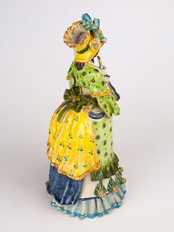 Lumiera donna con ombrello (H 34) Lumiere e Candelabri - CeramicArt Caltagirone