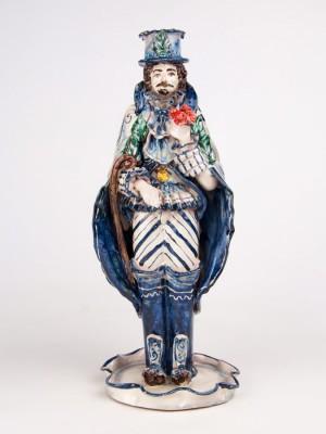 Lumiera uomo con mazzo di fiori (H 40)