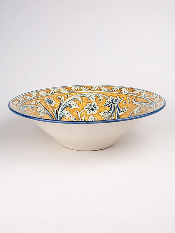Ciotola con decoro ornato (Ø 40) Centrotavola - CeramicArt Caltagirone