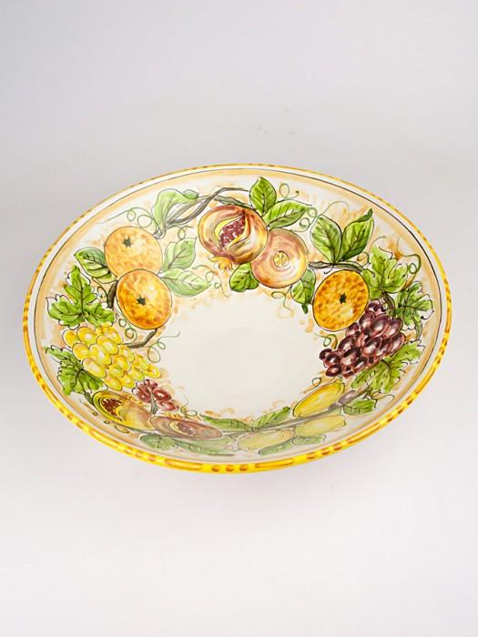 Ciotola con decoro frutta (Ø 28)