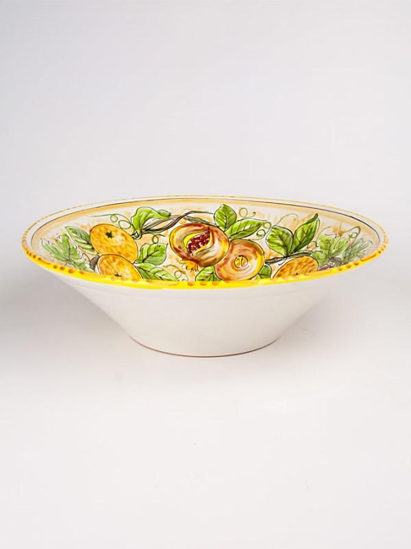 Ciotola con decoro frutta (Ø 28) Centrotavola - CeramicArt Caltagirone