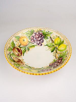 Ciotola al tornio con decoro frutta (Ø 35)