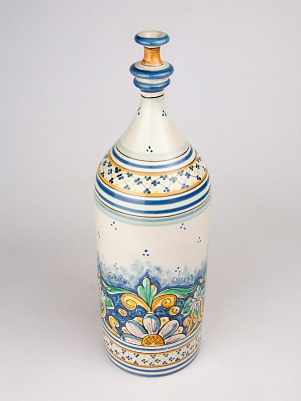 Bottiglia retta classica con collo stretto (H 40) Oggettistica - CeramicArt Caltagirone