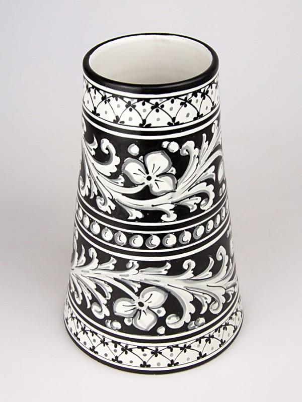 Vaso a cono stile moderno (H 29) Vasi - CeramicArt Caltagirone