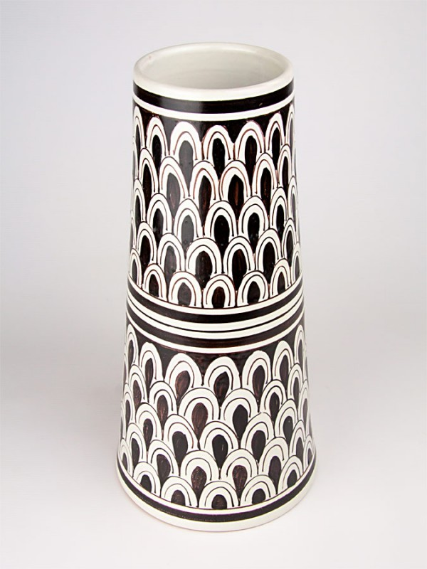 Vaso a cono stile moderno (H 40) Vasi - CeramicArt Caltagirone