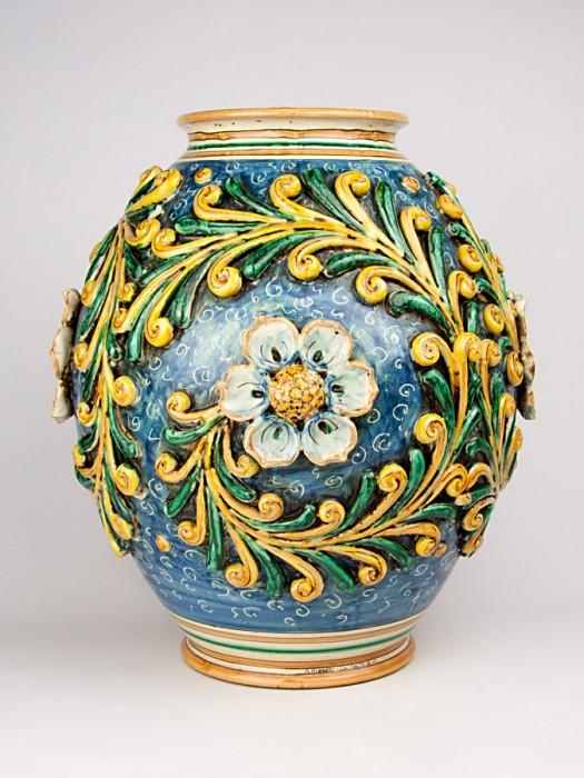 Vaso boccione a rilievo stile ottocento (Tir. Limitata) (H 45)
