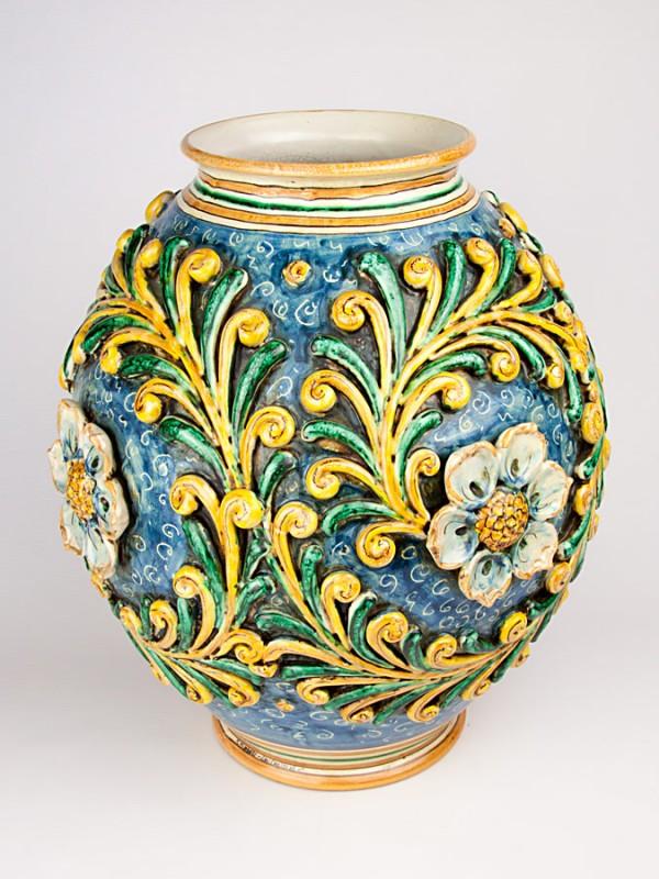 Vaso boccione a rilievo stile ottocento (Tir. Limitata) (H 45) Vasi - CeramicArt Caltagirone