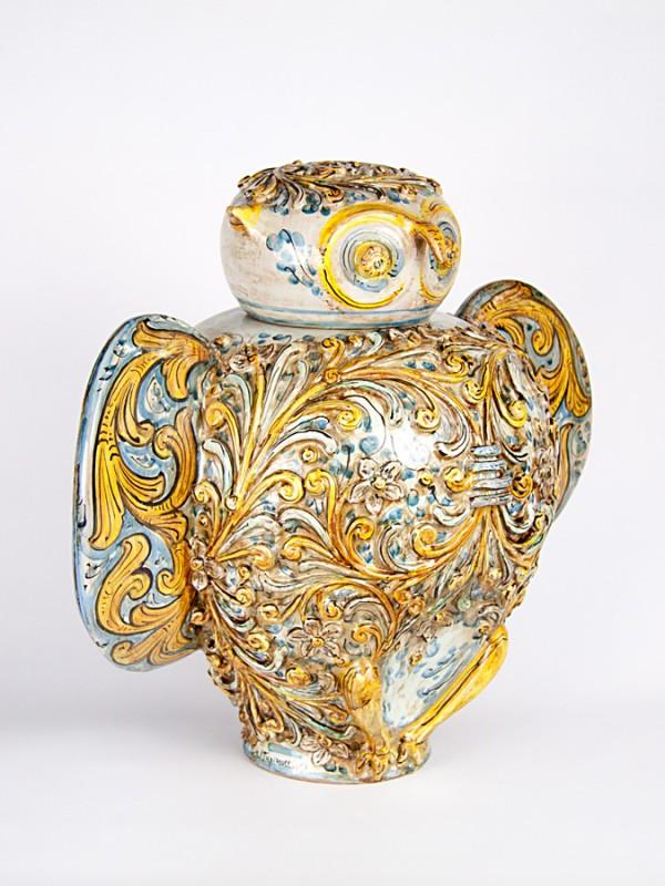Civetta barocca (H 42) Oggettistica - CeramicArt Caltagirone