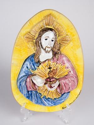 Icona a bassorilievo Sacro Cuore di Gesù (H 31)
