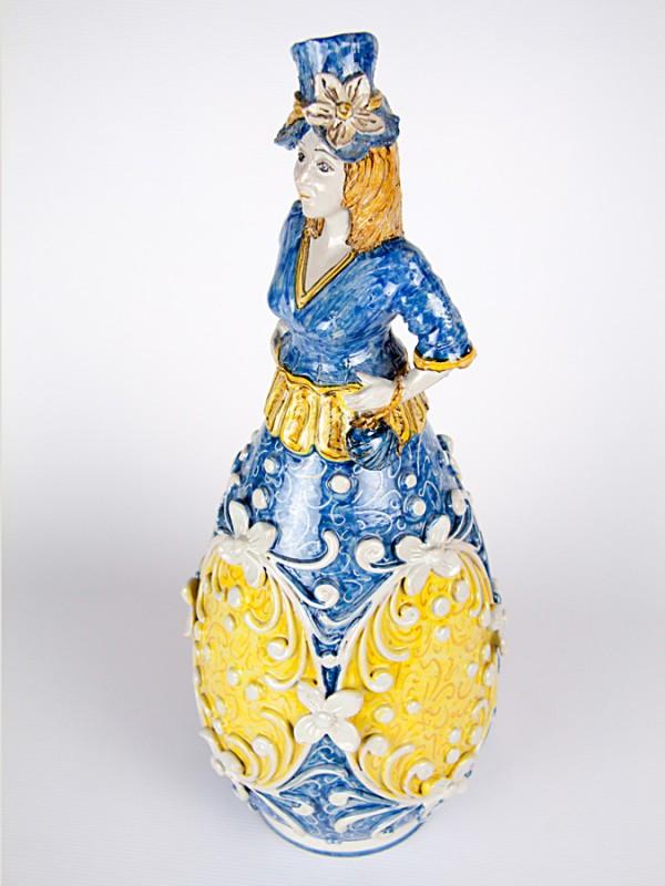 Lumiera donna (H 48) Lumiere e Candelabri - CeramicArt Caltagirone