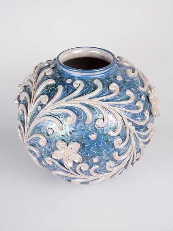 Vaso bombola barocco (H 29) Vasi - CeramicArt Caltagirone