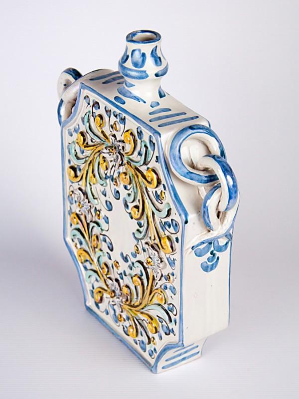 Fiasca barocca a rilievo (H 30) Per la Cucina - CeramicArt Caltagirone