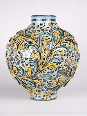 Vaso ovale barocco (H 31)