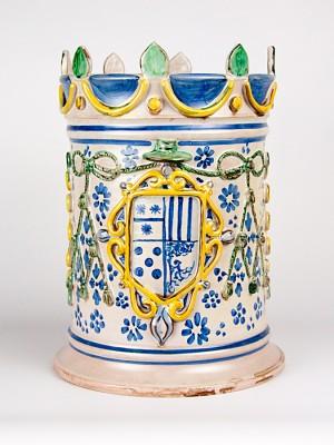 Vaso porta pianta castello barocco (H 37)