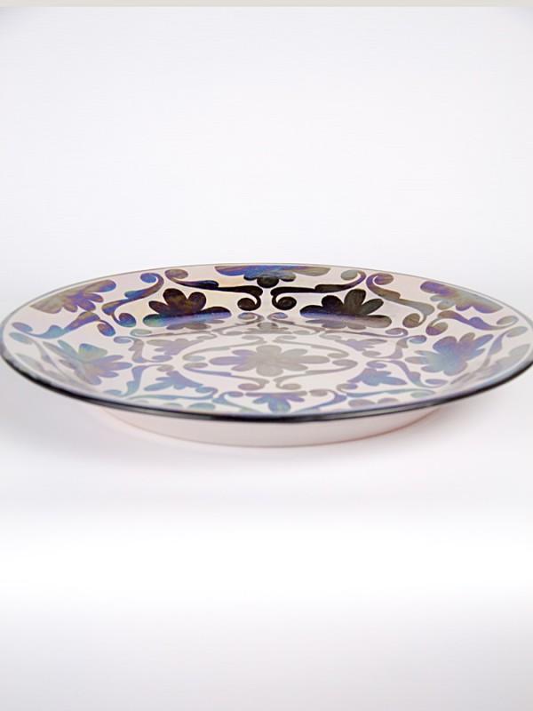 Piatto a falda spagnoleggiante (Ø 33) Piatti Ornamentali - CeramicArt Caltagirone