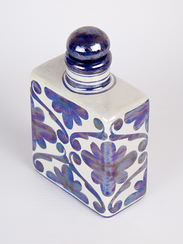 Bottiglietta quadrata spagnoleggiante (H 17) Oggettistica - CeramicArt Caltagirone