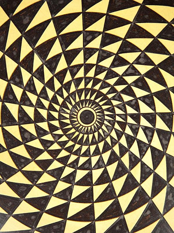 Piatto con decoro punta di diamante (Ø 40) Piatti Ornamentali - CeramicArt Caltagirone