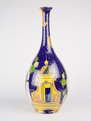 """Vaso a bottiglia """"paesaggio barocco"""" (H 48)"""
