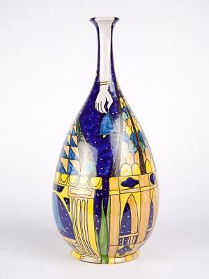 """Vaso a bottiglia """"campanili barocchi"""" (H 38)"""