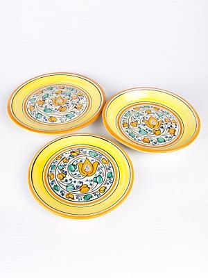 Servizio piatti piano, fondo e frutta con decoro seicento merletto