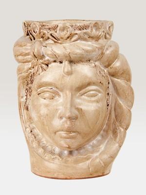 Testa principessa bianca porta pianta da giardino (H 35)