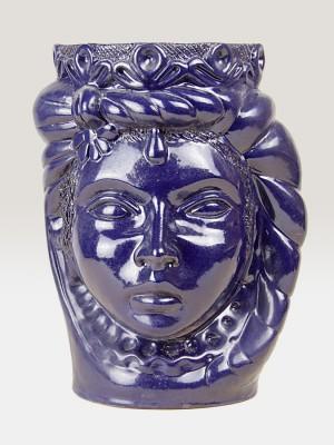 Testa principessa blu porta pianta da giardino (H 35)