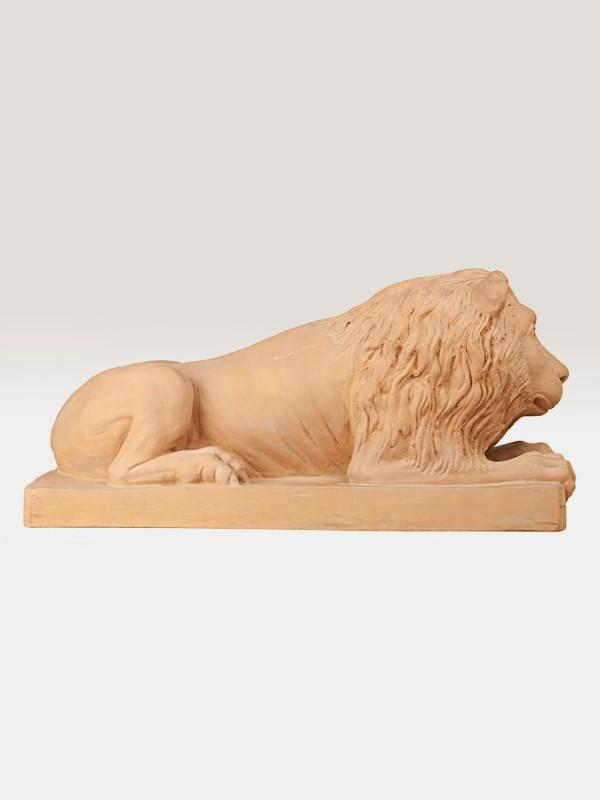 Leone decorativo in terracotta (H 30) Elementi da Giardino - CeramicArt Caltagirone