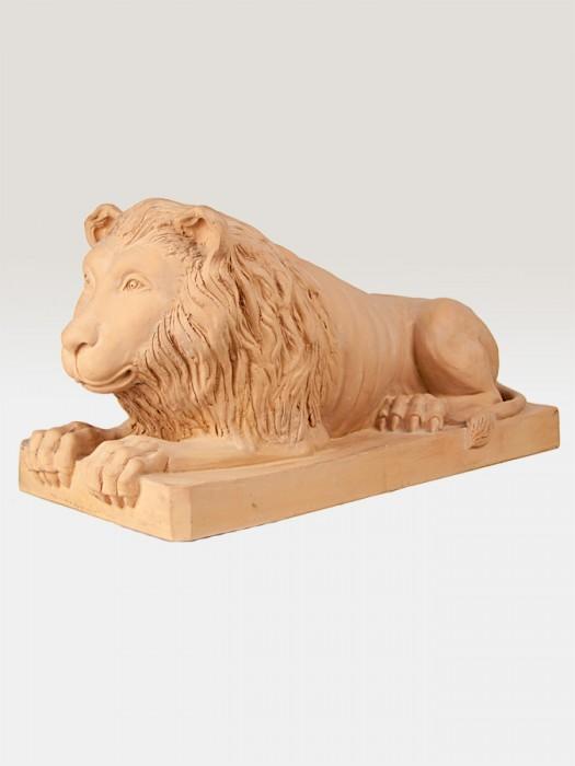 Leone decorativo in terracotta (H 30)