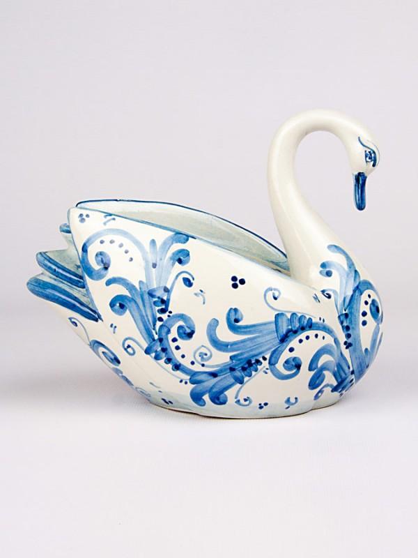 Cigno grande (H 15) Oggettistica - CeramicArt Caltagirone