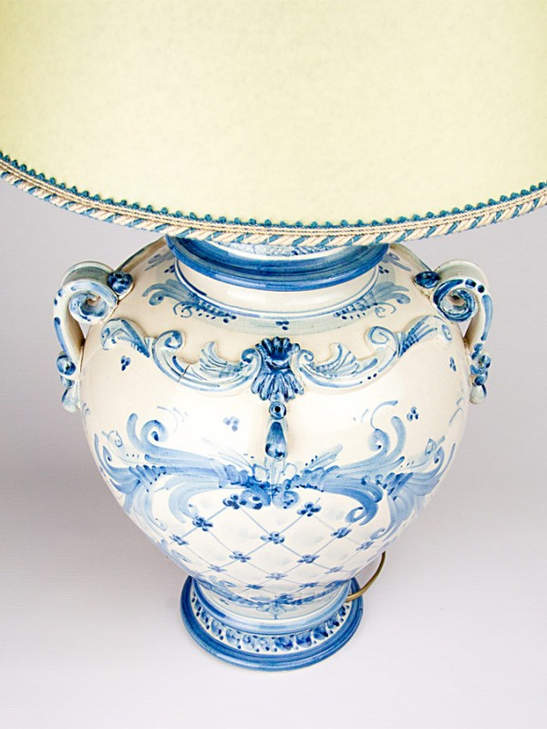 Lume goccia blu (H 75) Lumi - CeramicArt Caltagirone
