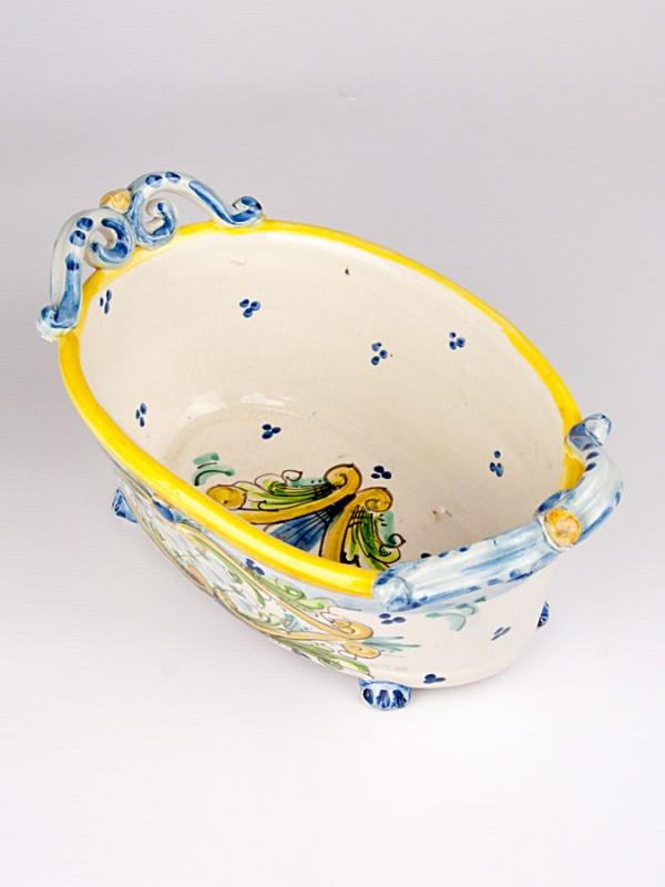 Vaschetta porta piante ovale  (Ø 25) Porta piante - CeramicArt Caltagirone