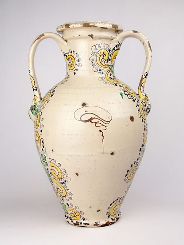 Anfora anticata con San Michele Arcangelo (Tir. Limitata) (H 51) Vasi - CeramicArt Caltagirone