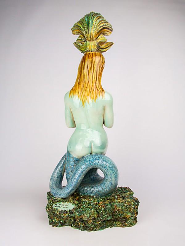 Fontana a sirena (Tir. Limitata) (H 66) Sculture - CeramicArt Caltagirone