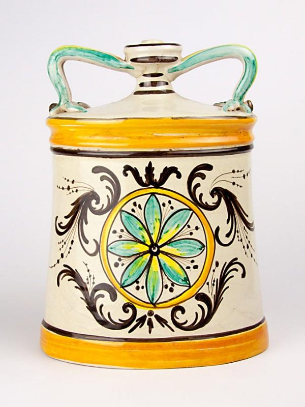 Fiasca bottiglia biansata (Tir. Limitata) (H 33) Oggettistica - CeramicArt Caltagirone