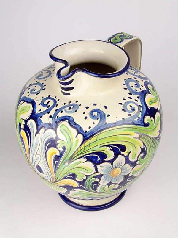 Brocca sferica con decoro ornato (Tir. Limitata) (H 31) Oggettistica - CeramicArt Caltagirone