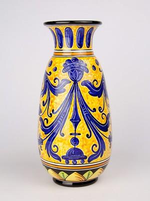 Vaso sfilato con decoro a serie d'arte (H 33)