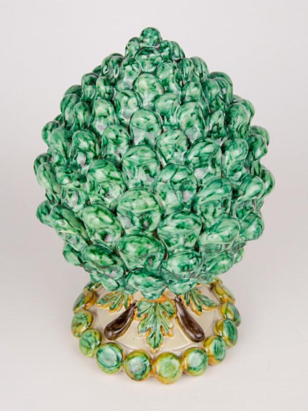 Pigna modellata a mano (H 29) Oggettistica - CeramicArt Caltagirone