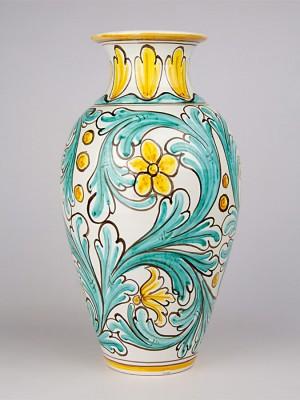 Vaso ovale con decoro '700 (H 40)